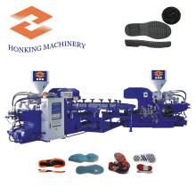 Machine de fabrication de semelle de chaussure en PVC rotatif