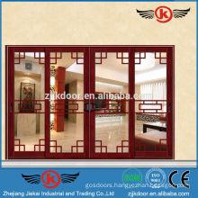 JK-AW9107 beautiful four leaf/panel interior aluminum sliding glass door price