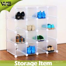Living Room Modern Plastic Shoe Organizer Display Storage Cabinet