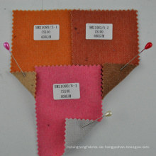 orange doppelseitiges gewebtes 100% Kaschmir für Frauen Mantel Stoff