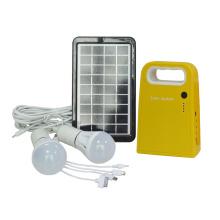 Sistema portátil de iluminación de energía solar de 3W