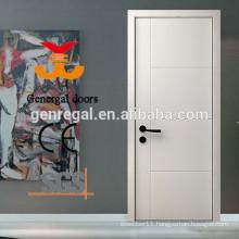 Bedroom flush wood white paint doors