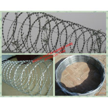Hot Dipped Razor Wire, Stainless Steel Razor Barbed Wire