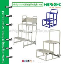 metal frame step ladder mini ladder for supermarket service