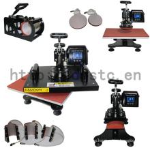 Fábrica precio fabricación 8 en 1 Combo máquina de prensa del calor