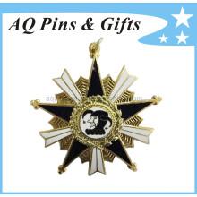 Insignia de la policía del recuerdo del metal con el diamante, Broche (insignia-020)