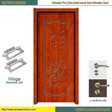 Puerta de madera anhelada Puerta de madera principal Proveedor de puerta de madera
