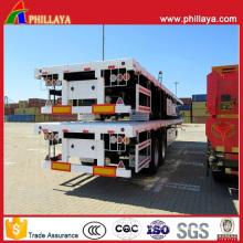 20FT 40FT Platform Container Transport Flatbed Semi-Trailer