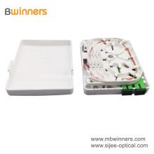 2 ports ABS Plastic Fiber Optic Socket Terminal Box Wall Mounted Socket