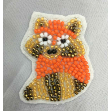 Strass Perlen Fuchs Stickerei Patch