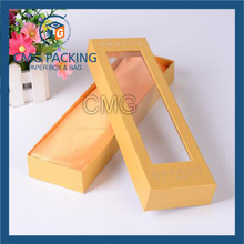 Yellow Gift Box with Clear Plastic Window