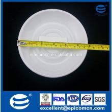 """6"""" white ceramic saucer porcelain small holder"""