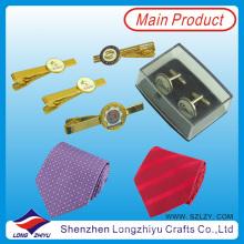 Custom Tie Clip Cufflink and Tie Pin Set (LZY-20130004)