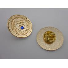 Pin promocional de la solapa, insignia por encargo con el diamante (GZHY-CY-043)