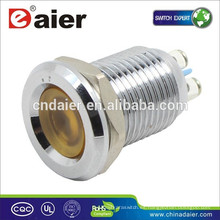 Daier GQ12CS-D 12mm metal 24 voltios led luces indicadoras