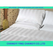 100% cotton white fabric for hotel bedding