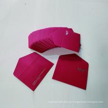 Envelope de papel de cartão de presente com logotipo de pedido personalizado