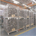 Warehouse Folding Rolling Metal Container Storage Cage