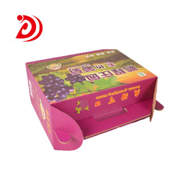 Organic grape color ​box with handle