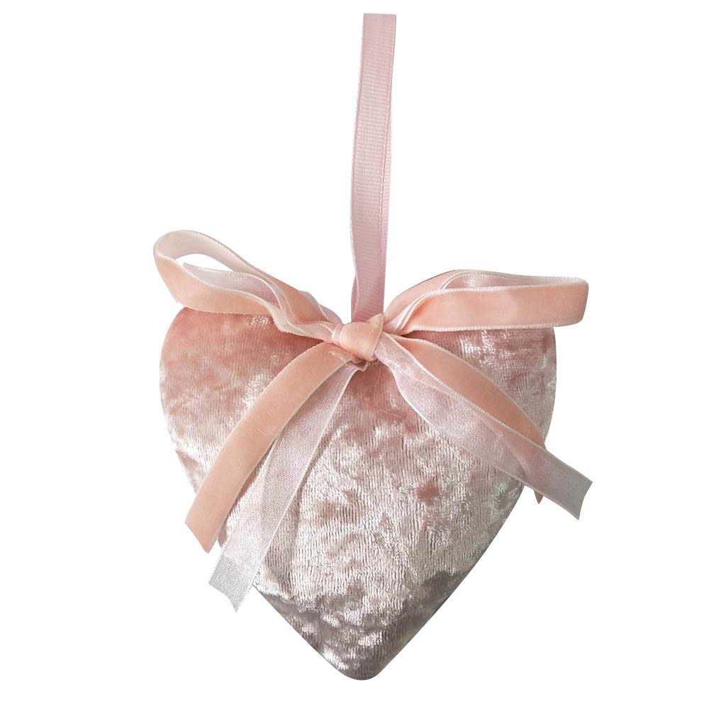 Pink Christmas Heart Shaped Ornament Decoration