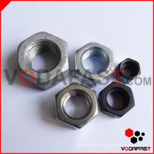 Porcas Hexagon (Plain, Black, zinco chapeado, HDG)
