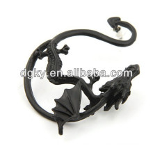 Black Plated Vintage Dragon Ear Piercing