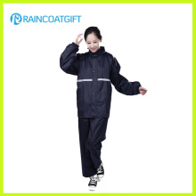 Der Polyester-Regenanzug Rvc-105 der wasserdichten Frauen