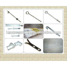 accessoires de matériel électrique de poteau d'alimentation électrique accessoires en acier ondulé tige de séjour forme spéciale crochet de barre en acier de cuivre
