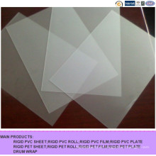 Kalandriertes bereiftes dünnes transparentes Plastik-PVC-Blatt für faltenden Kasten
