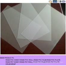 Feuille brillante de PVC de velours transparent pour l'impression d'écran en soie