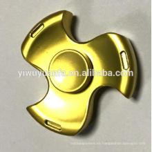 Venta caliente juguete divertido anti estrés fuerte metal del ejército oro fidget mano spinner