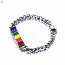 In Massengeschenken Regenbogen gay-Pride-Edelstahl-Armbänder für die Frau