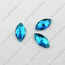 El brillo decorativo al por mayor de Pujiang cose en el diamante artificial para el traje