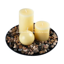 Bougie de cire de soja Aroma Pillar & Ball pour Noël