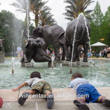 High Quality outdoor decoration antique bronze standing elephant sculpture