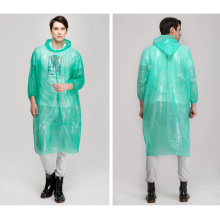 PE  one time disposable poncho raincoat