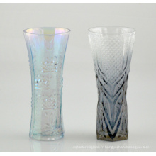 Vase en verre avec belle impression