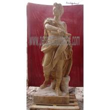 Esculpida antiga escultura de mármore escultura estátua de pedra para decoração do jardim (sy-x1165)