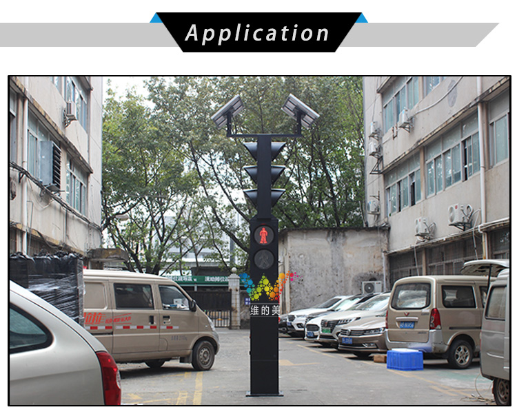 solar powered Integrated led traffic light_07
