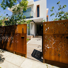 Corten Steel Laser Cut Gates
