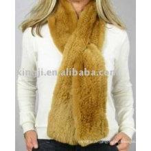 Top qualité tricoté Rex écharpe de fourrure de lapin