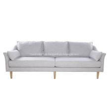 Sofá moderno da antuérpia de linho da mobília da sala de visitas