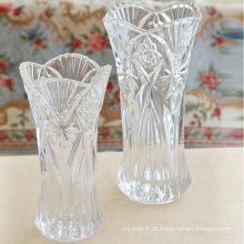 Vaso de vidro europeu do estilo floral do vaso de cristal alto europeu da decoração do casamento