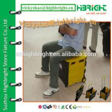 heavy duty foldable plastic roll cart