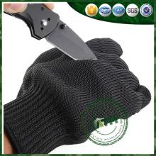 Guantes resistentes a los cortes de aramida, guantes de seguridad de acero inoxidable.