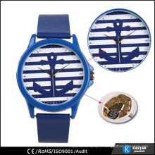 Montre à ancre montre geneva montre bracelet en cuir véritable