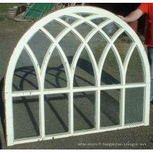 Fenêtre cintrée en aluminium de qualité supérieure Wanjia