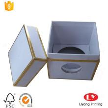 boîte à bougies personnalisée avec un cadre doré