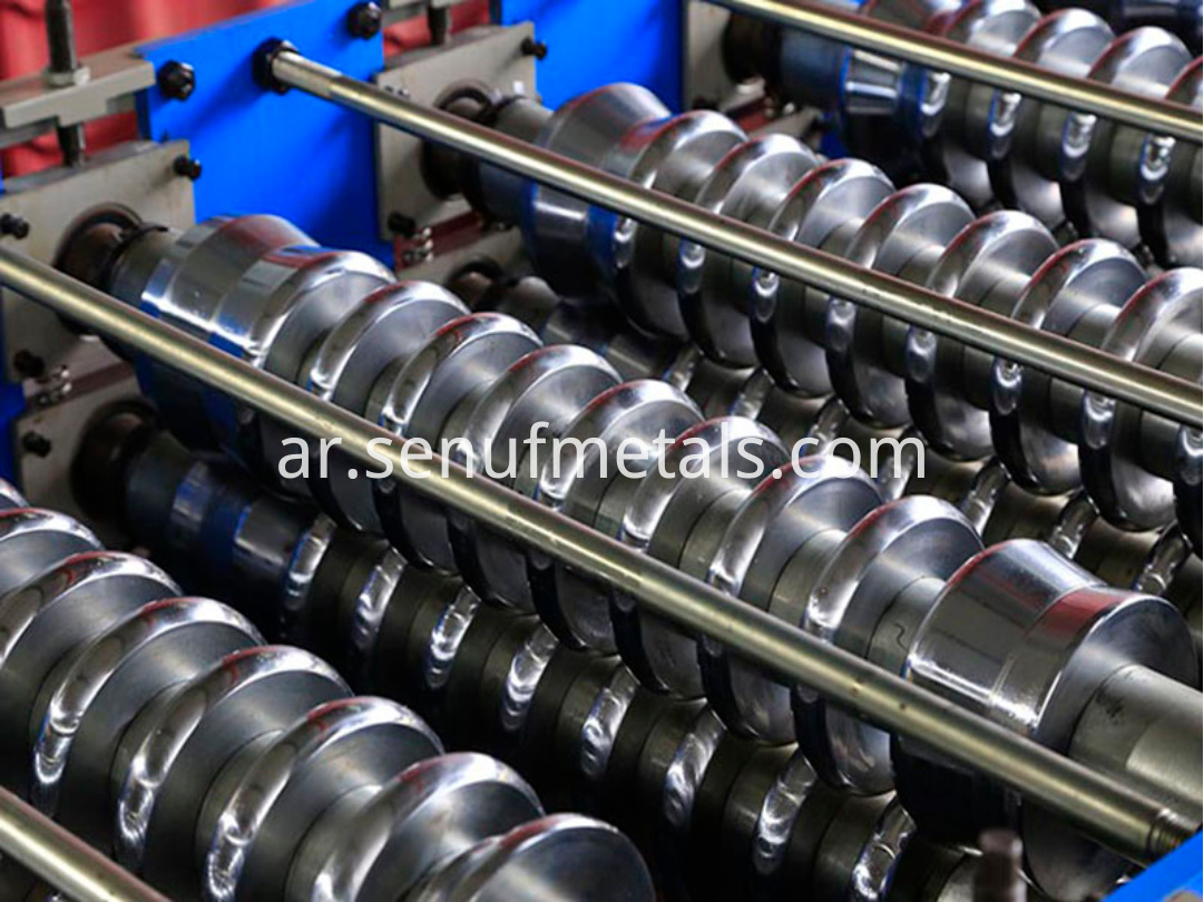 Corrugated forming machine rollers