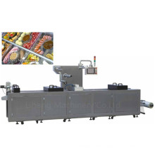 Dlz-520 Full Automatic Continuous Stretch Cooked Food Vacuum Packing Machine
